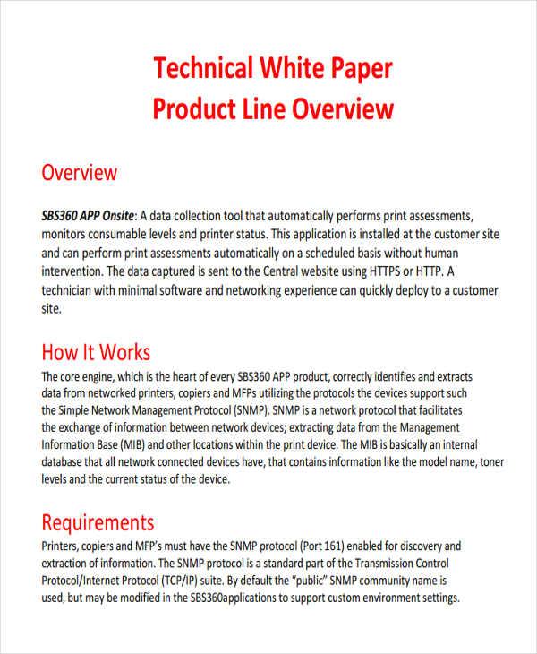 49 White Paper Templates Free  Premium Templates - white paper template