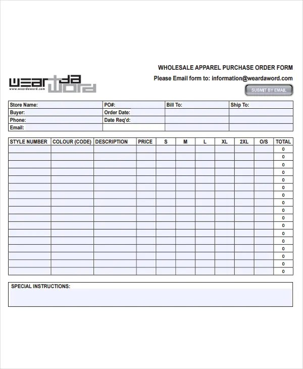7+ Fashion Order Forms - Free Sample, Example Format Download Free