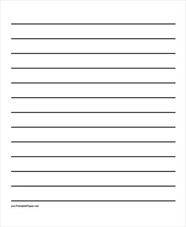 25+ Free Lined Paper Templates Free  Premium Templates - lined paper print out