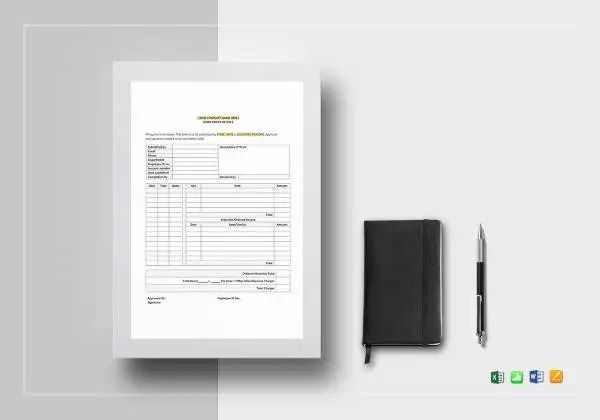 10+ Work Invoice Templates - Free Sample, Example Format Download