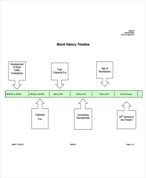 History Timeline Templates -9+ Free Word, PDF Format Download Free - blank timeline pdf