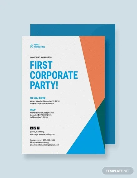 18+ Corporate Invitation Designs - PSD, AI, EPS Free  Premium