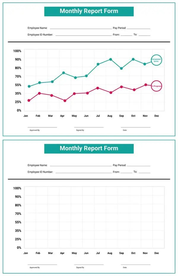 42+ Monthly Report Format Templates Free  Premium Templates - monthly report format