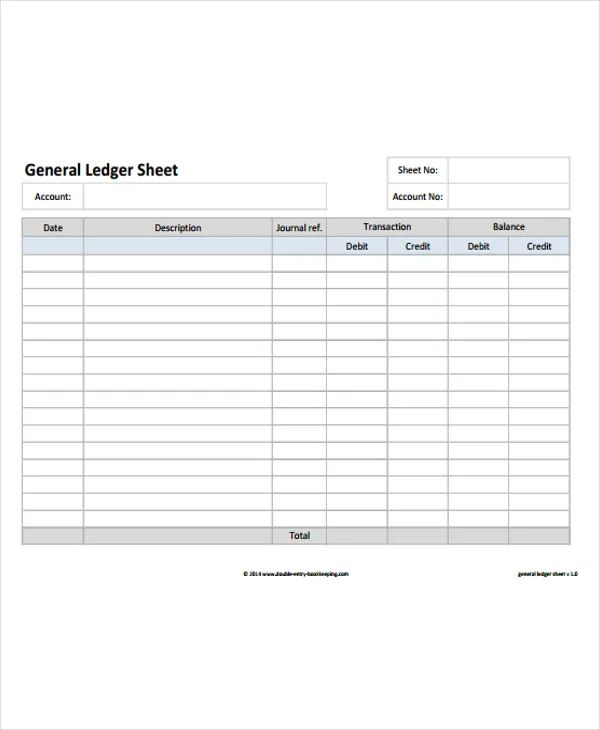 general ledger template free