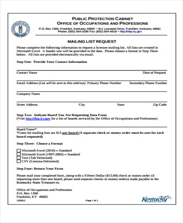 mailing list template excel - Minimfagency - address list template