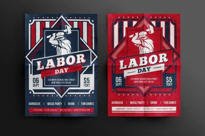 30 Labor Day Party Flyer Template - PSD, JPEG, PNG Free  Premium