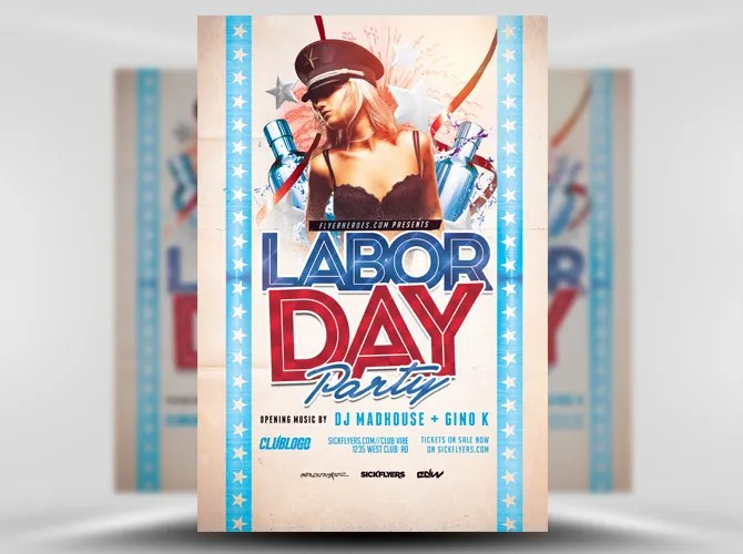 30 Labor Day Party Flyer Template - PSD, JPEG, PNG Free  Premium - labour day flyer template