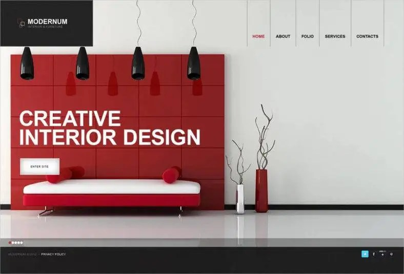 40+ Interior Design Website Templates Free  Premium Templates - interior design web template