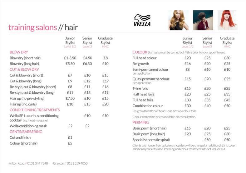 free price sheet template - Romeolandinez - Price Sheet Template Free
