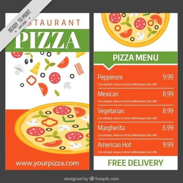 13+ Pizza Menu Templates Free  Premium Templates - Sample Pizza Menu Template