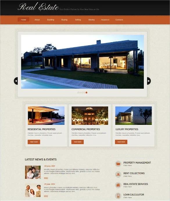 33+ Real Estate Website Themes  Templates Free  Premium Templates