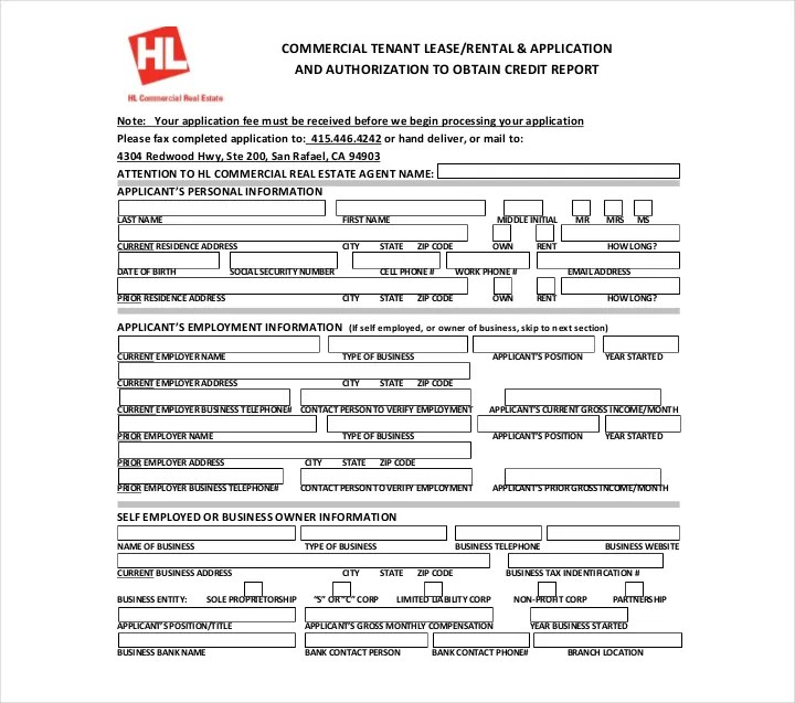 27+ Lease Application Form Templates - Free PDF, Word, Excel Format