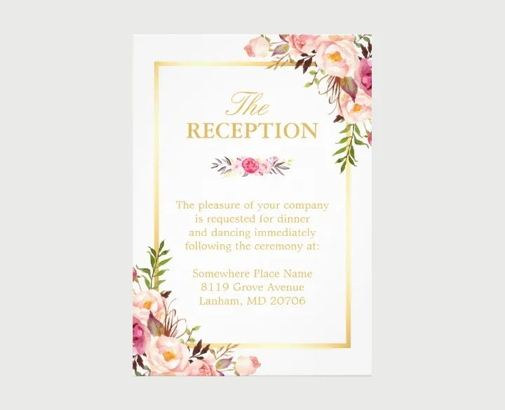15+ New Wedding Reception Invitation Templates - PSD, AI Free