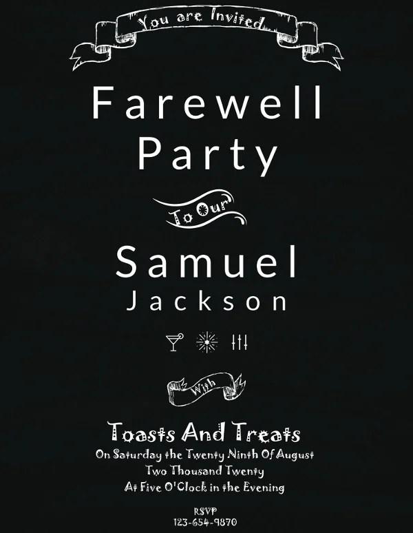 15+ Farewell Invitation Designs Free  Premium Templates