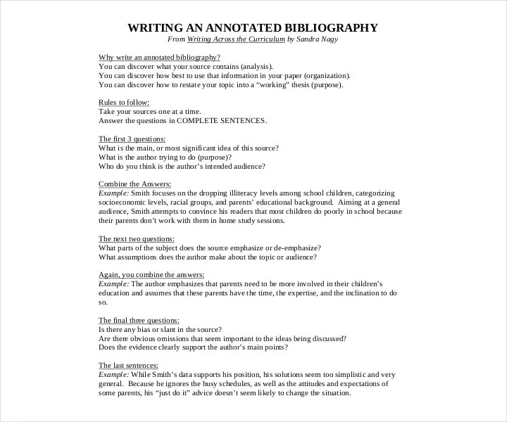 Template of annotated bibliography mla \u2013 Essays HUB