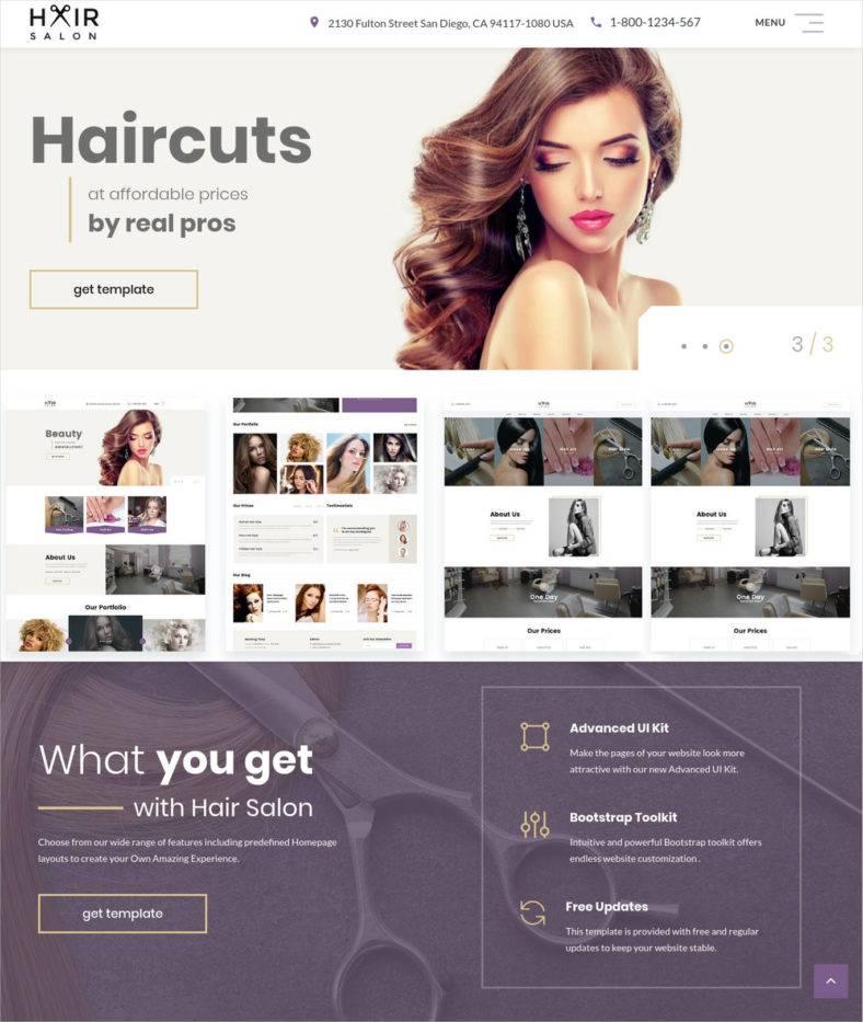 Barber Shop Website Templates  Themes Free  Premium Free