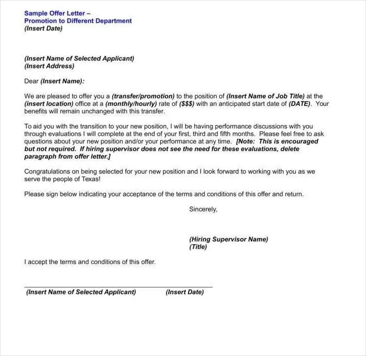 29+ Promotion Letter Templates - PDF, DOC Free  Premium Templates - job promotion announcement examples