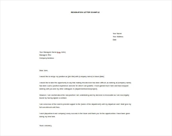job resignation - Josemulinohouse - job resignation letter