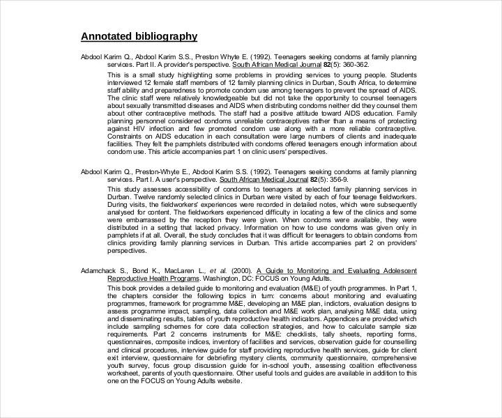 Annotated Bibliography Mla Template - Costumepartyrun