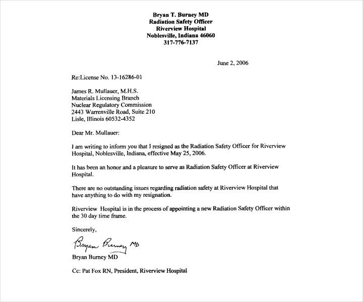 6+ Job Resignation Letter Templates - Free PDF, Word Format Download
