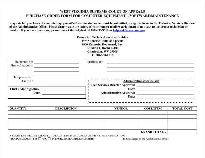 equipment order form template - Romeolandinez - purchase order template office