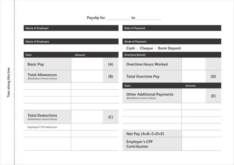 9+ Blank Pay Stub Templates - Free PDF, DOC Format Download Free - pay slip templates