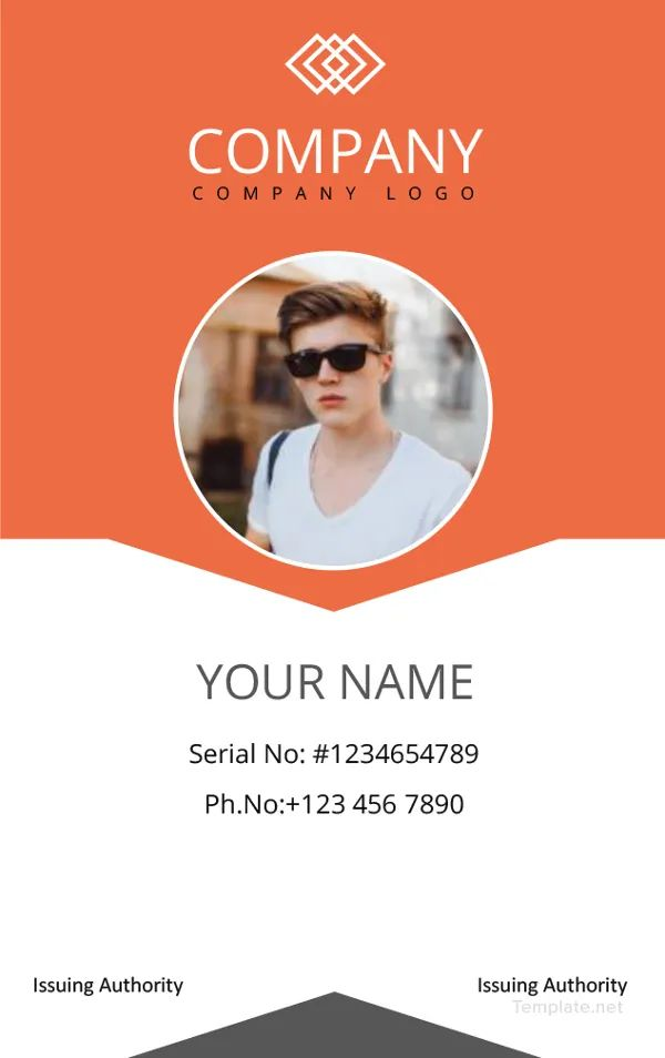 free identity card template