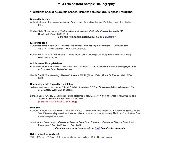 26+ Free Bibliography Templates - Free PDF, Doc Format Downloads - Mla Work Cited Book