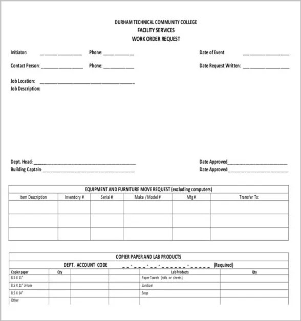 10+ Job Order Forms Free  Premium Templates - work order form