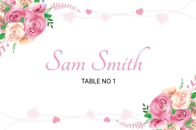 25+ Wedding Place Card Templates Free  Premium Templates