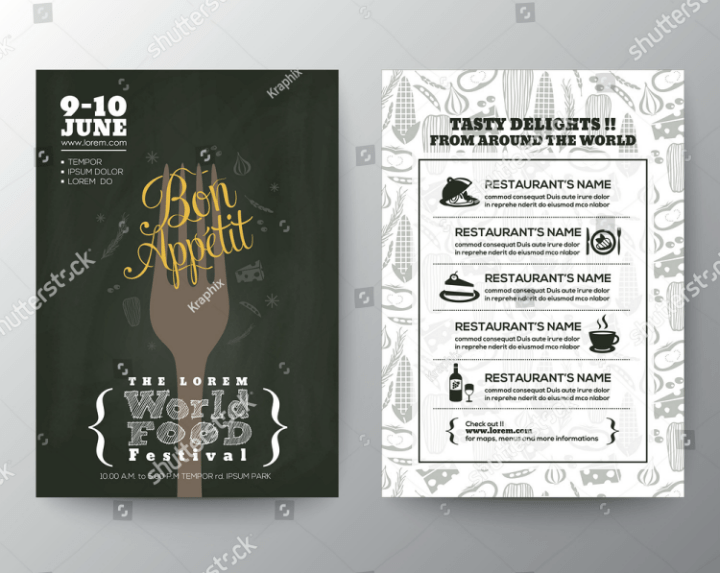 menu templates design