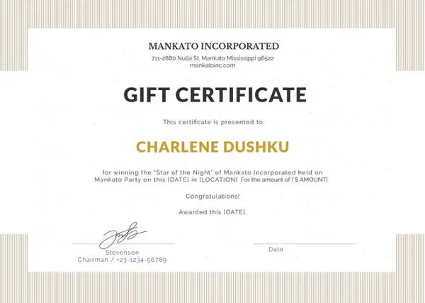 Gift Certificate Template Word - 8+ Free Word Documents Download - gift certificate word template