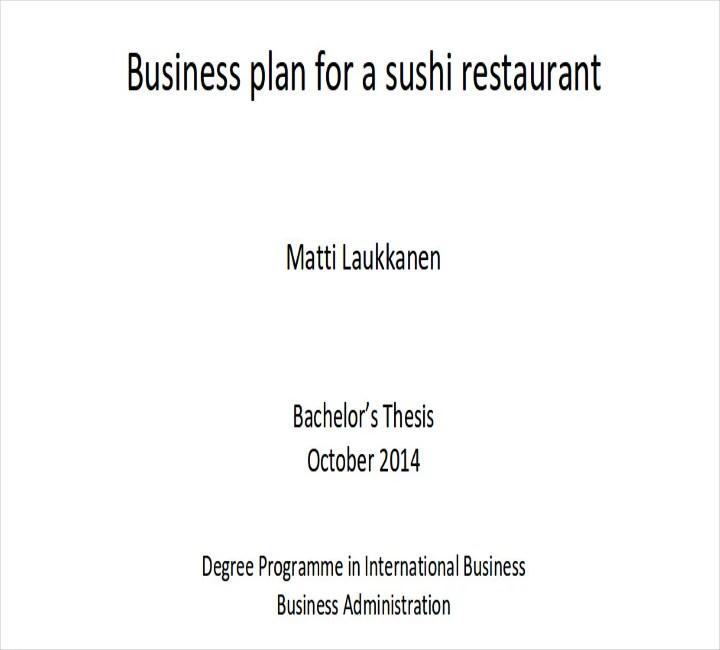 Restaurant business plan outline colbro 9 restaurant business plan templates free pdf flashek Gallery