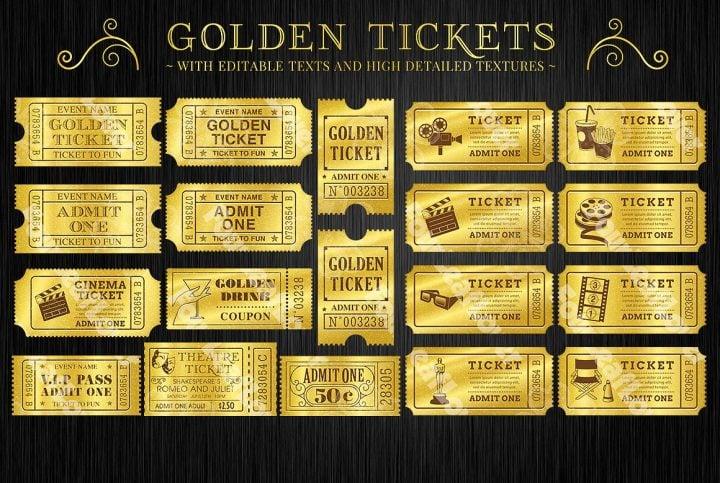 9+ Attractive Raffle and Movie Ticket Templates Free  Premium