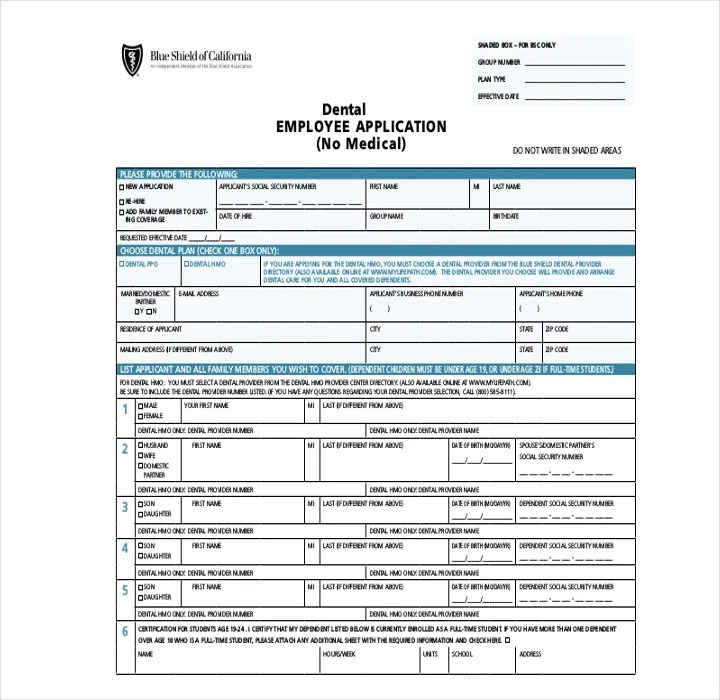 9+ Employee Application Forms  Templates - PDF, DOC Free - employment application forms