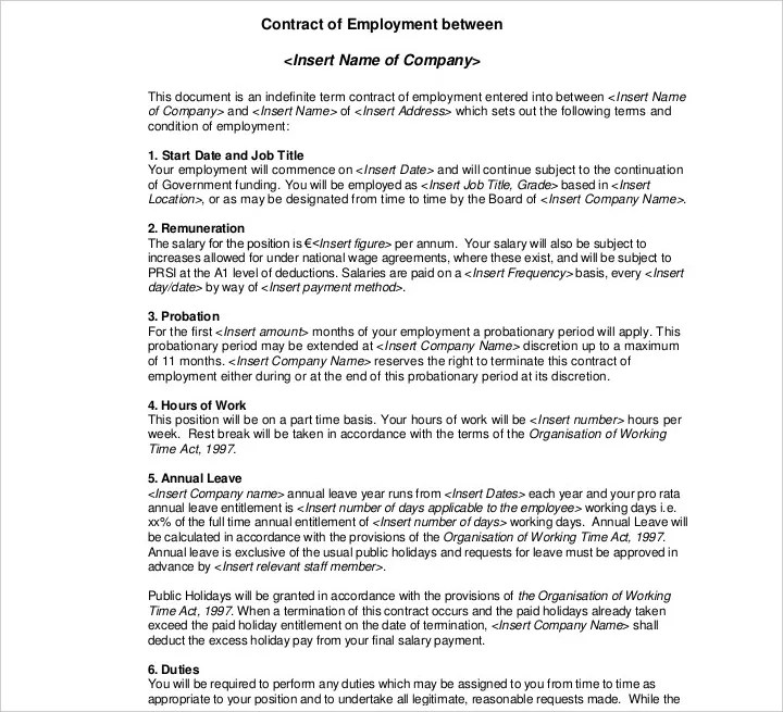 9+ Employment Contracts for Restaurants, Cafes, and Bakeries - Free