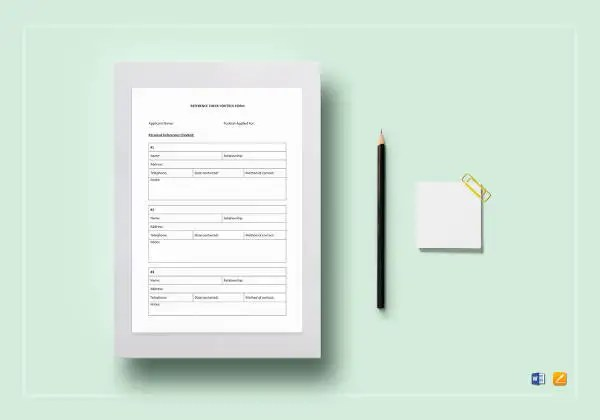 12+ Reference Checking Forms  Templates - PDF, DOC Free  Premium