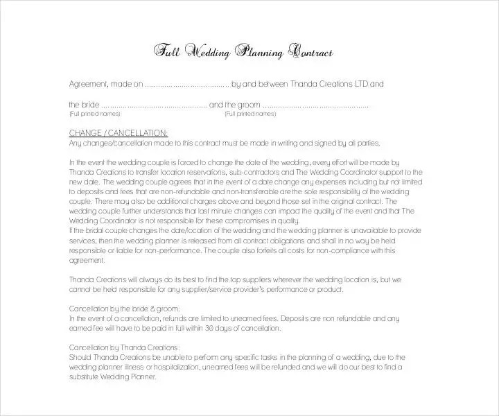 party planner contract - Alannoscrapleftbehind - event planner contract example