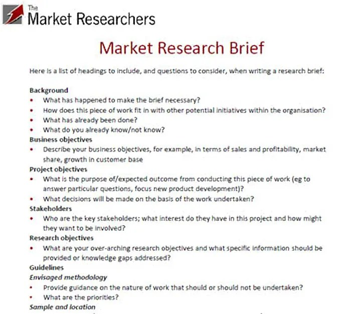 9+ Market Research Proposal Templates - PDF, DOC Free  Premium - what is the research proposal