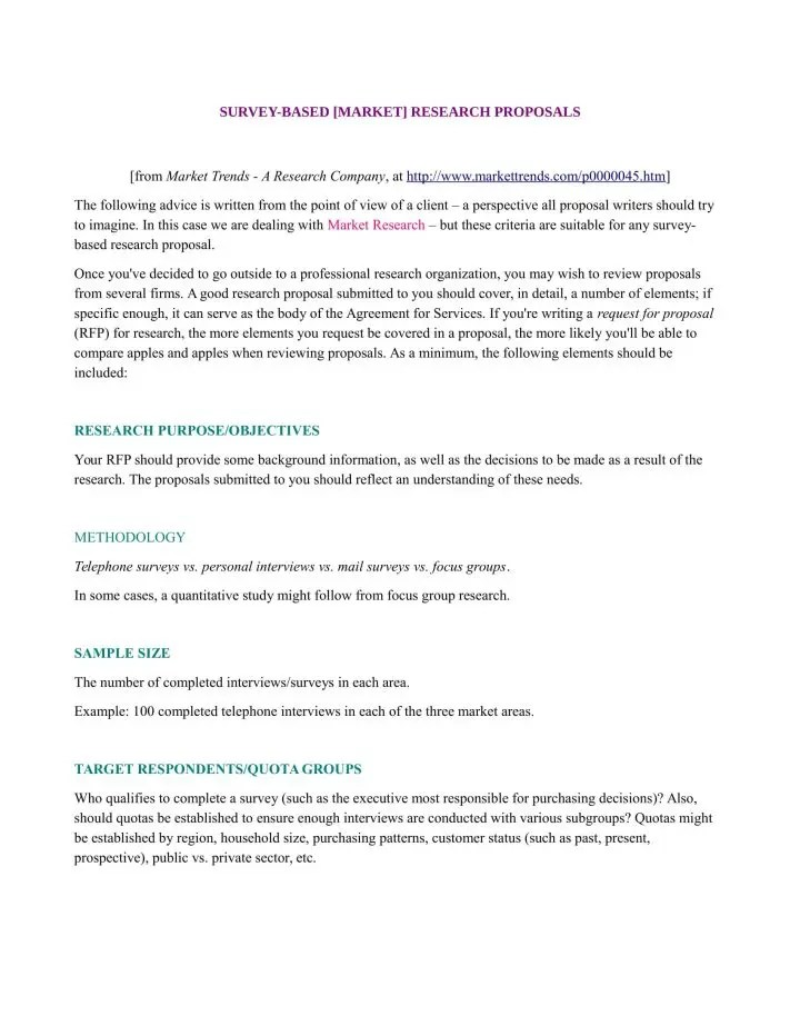 11+ Market Research Proposal Templates - Word, PDF, Pages Free