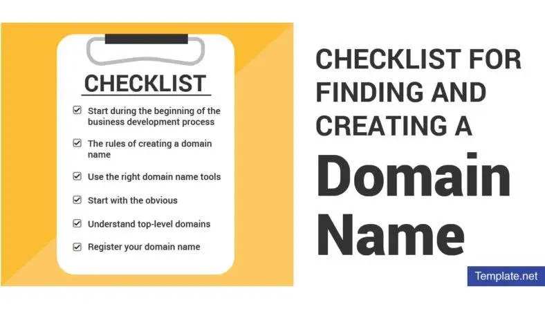 Checklist for Finding and Creating a Domain Name Free  Premium