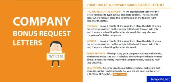 How to Write a Company Bonus Request Letter Free  Premium Templates