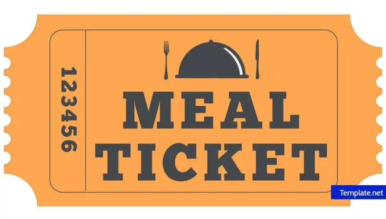 14+ Meal Ticket Designs  Templates - PSD, AI, Word, PDF Free