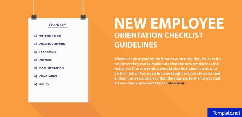 orientation checklist template for new employee - Akbagreenw