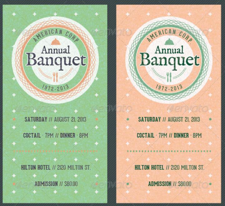 14+ Banquet Ticket Designs  Templates - PSD, AI Free  Premium