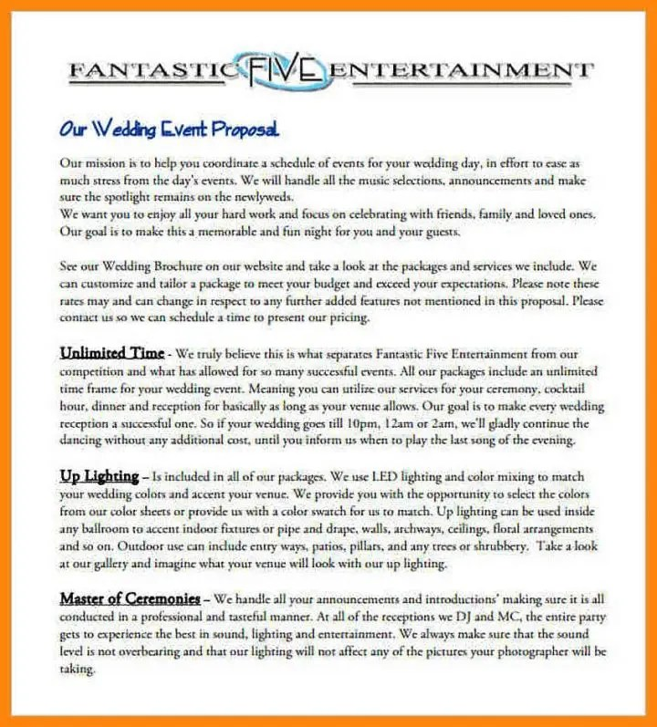 8+ Event Proposal Templates Restaurant, Cafe and Bakery - PDF, DOC