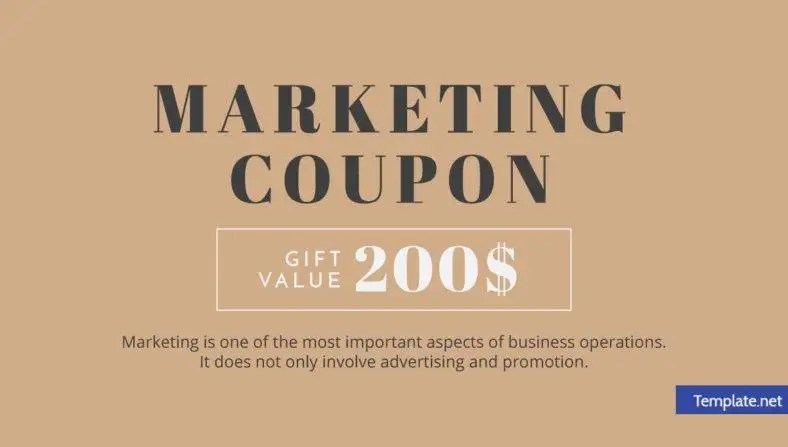 14+ Attractive Marketing Coupon Designs  Templates - PSD, AI, Word