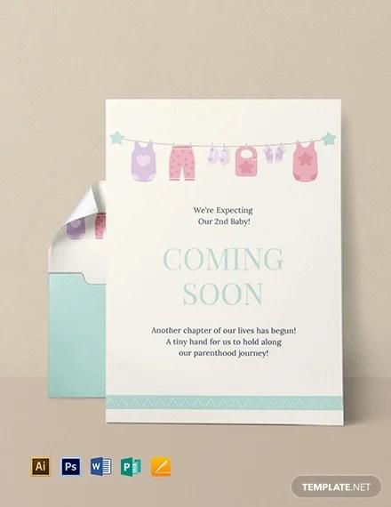 16+ Pregnancy Announcement Card Design Templates - PSD, AI, Google