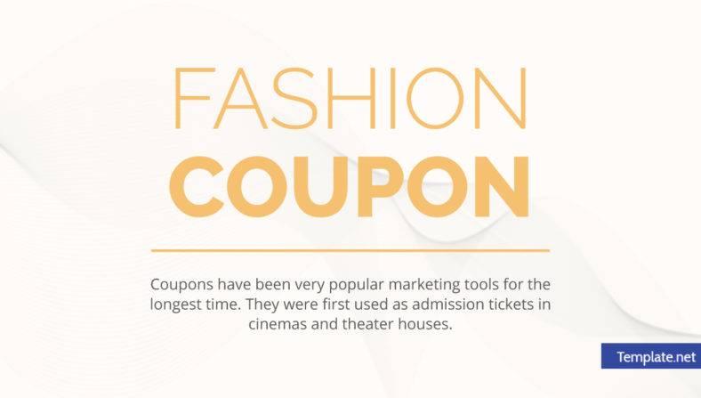 14+ Fashion Coupon Designs  Templates - PSD, AI, Word, PDF