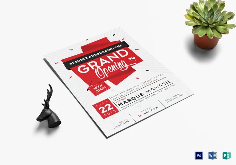 14+ Restaurant Grand Opening Flyer Designs  Templates - PSD, AI - Grand Opening Flyer
